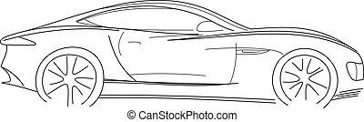 Sport Car Sketch Illustration