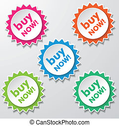 Buy Now Colorful Star Paper Labels - Colorfull star paper...
