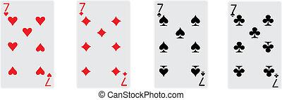 sevens of poker