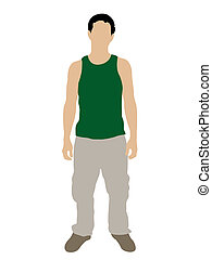 standing man on isolated background