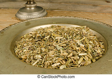 Echinacea infusion - Ground echinacea ready to prepare a...