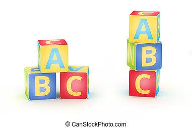 A,B,C cubes