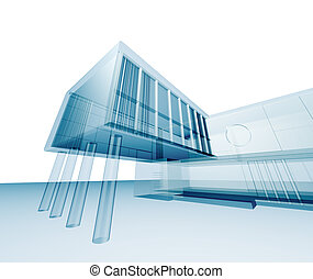 Abstract architecture Building design and 3d model my own