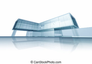 Abstract building Building design and 3d model my own