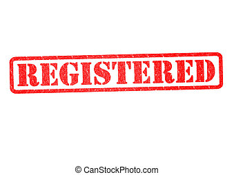 REGISTERED Rubber Stamp
