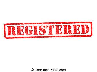 REGISTERED Rubber Stamp
