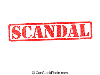 SCANDAL Rubber Stamp over a white background.