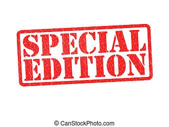 especial, edición, caucho, estampilla