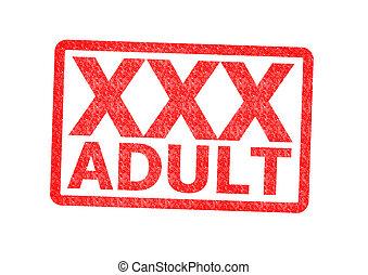 Xxx, adulte, caoutchouc, timbre