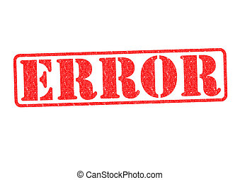 ERROR Rubber Stamp over a white background.