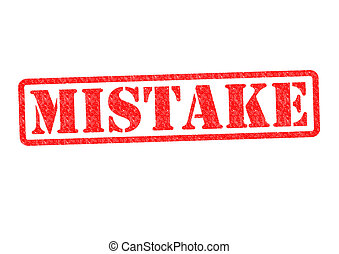 MISTAKE Rubber Stamp over a white background.