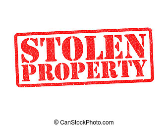 STOLEN PROPERTY Rubber Stamp over a white background