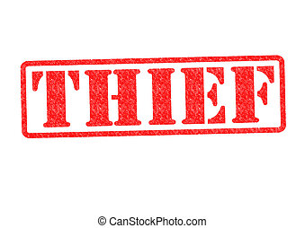 THIEF Rubber Stamp over a white background.