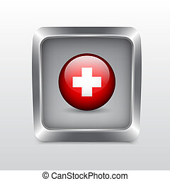 Media social icon. Detailed button for design. EPS10 vector