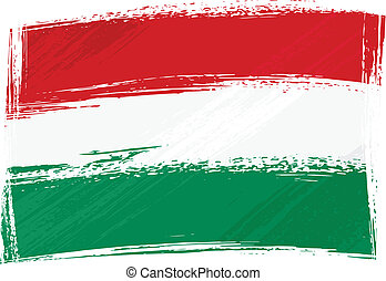 Grunge Hungary flag - Hungary national flag created in...