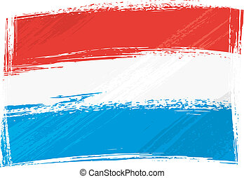 Grunge Luxembourg flag - Luxembourg national flag created in...