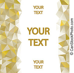 Yellow polygons background with place for your text