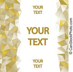 amarillo, polígonos, Plano de fondo