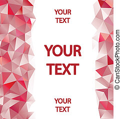 Red polygons background with place for your text
