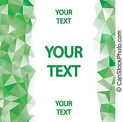 Green polygons background with place for your text