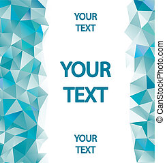 Blue polygons background with place for your text