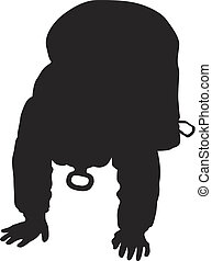 little baby silhouette