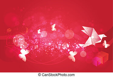 Origami Background(red)