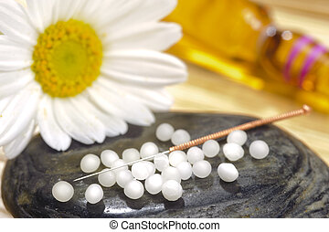 medical pills and acupuncture