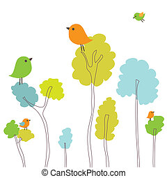 Illustration of beautiful spring background - Vector...