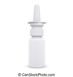 Nasal spray. Isolated render on a white background
