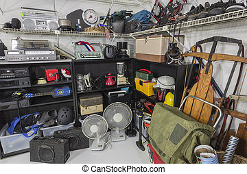 Vintage Garage Sale Corner - Vintage items in a residential...