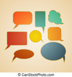 Speech bubbles in retro style vector illustration