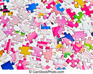 puzzle background - Photo of the puzzle background at the...