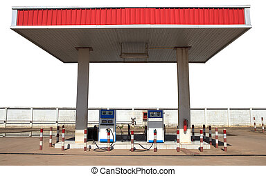 gas lpg  liquid petroleum gas  station isolated white