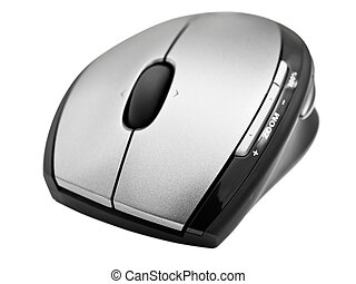 wireless optical mouse over the white background