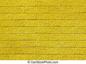 Yellow brick wall - Seamless brick wall use for background...