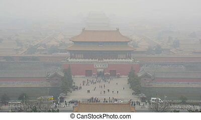 forbidden city - time lapse of the tiananmen square infront...