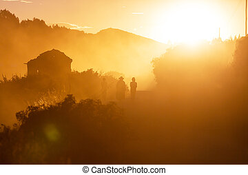 Bolivian people - People silhouette in Bolivia