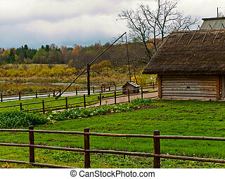 old wooden house in countryside