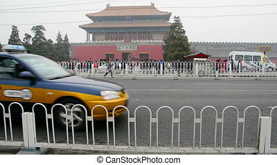 forbidden city - the tiananmen square infront of the...