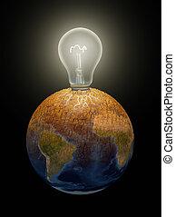 Light bulb in the Earth