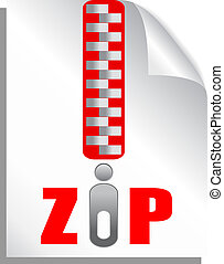Zip file download, vector illustration