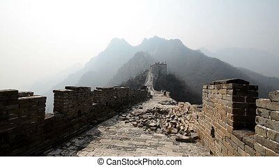 great wall of china - the great wall of china portion which...