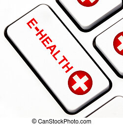 E-health button on keyboard  - E-health button on keyboard
