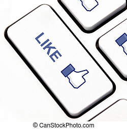 Like button on keyboard