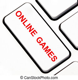 Online games button on keyboard