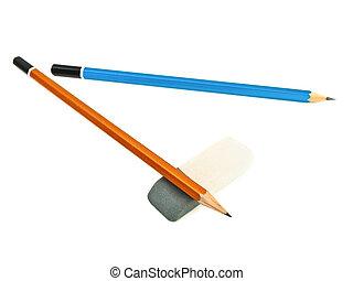 lápices, borrador