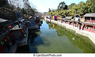 suzhou street - the suzhou street of the summer palace...