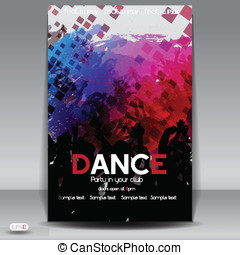 Party Flyer design template. Vector Illustration