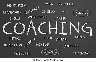 Coaching chalkboard - Chalkboard with coaching concept